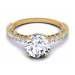 0.80 Ct Real Diamond Engagement Ring Fine 14k Yellow Gold Women Rings Size 6 7 8