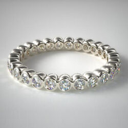 1.00 Ct Real Diamond Wedding Beautiful Bands For Women 950 Platinum Size M N O P