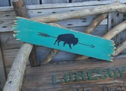 Buffalo/rustic Wood Sign/décor/home/lodge/log Cabin/carved/bison