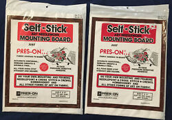 SET OF TWO PRES ON 9 X 12 Self Stick Art Needlework Mounting Boards