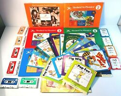 Vintage 1998 Hooked On Phonics Books Cassette Tapes And Flash Cards - Lot Of 34