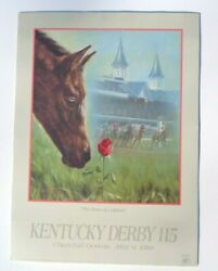 1989 Kentucky Derby Official Poster Chance Of A Lifetime 22x30. Genuine Orig