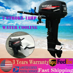 2 Stroke 18hp Heavy Duty Outboard Motor Water Cooling Short Shaft 40cm 246cc Usa
