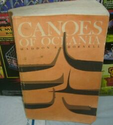 1975 Canoes Of Oceania By J. Hornell And A. C. Haddon Hawaiian Sc Book Bishop