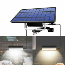 Double Head Solar Power Led Pendant Light Outdoor Hanging Lamp Garden Yard Shed