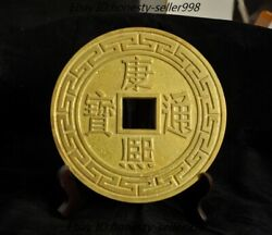 """Huge Old Dynasty Palace Chinese Bronze Gilt 24k Gold Ancient Money Coins""""康熙通寶"""""""