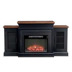 Sunjoy Orion 72 In. W Indoor Living Room Tv Console Electric Powered Fireplace