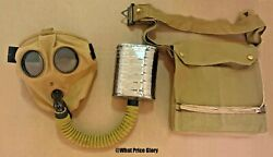 British Wwi And Wwii Sbr Respirator Gas Mask With Bag
