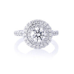 0.80 Ct Real Diamond Engagement Ring Solid 14k White Gold Women Rings 5 6 7 8 9