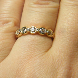Solid 14k Yellow Gold Band Sets 1.25 Ct Real Diamond Engagement Ring 9 8 7 6