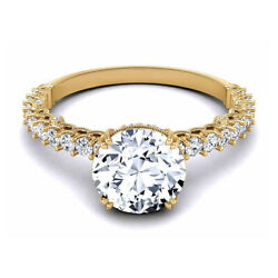 0.80 Ct Real Diamond Wedding Ring Solid 14k Yellow Gold Women Rings Size 6 7 8 9