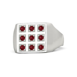 0.39 Ct Natural Ruby Engagement Ring 18k Solid White Gold Band Size 10 11 12 13