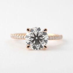 Fine 14k Rose Gold 0.80 Ct Real Round Diamond Engagement Solitaire Rings 6 7 8 9