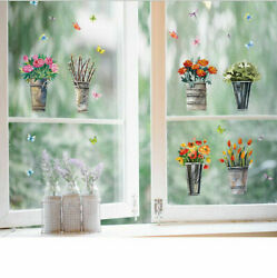 Removable Flowers Potted plants Wall Sticker Mural Wall Decal Room Home Decor EH