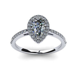 0.70 Ct Genuine Real Diamond Engagement Rings 14k Solid White Gold Size 7 6 5 4