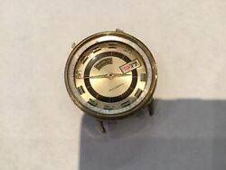 Vintage Authentic Signed Benrus Automatic Day Date Watch Movement No Reserve