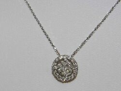 Gold Necklace 18 Carats With Bright Ct 0.72 Gold-diamant-halskette Diamond Neck