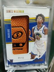 2020-21 Panini Absolute James Wiseman Golden State Warriors Rookie Relic 04/15