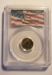 Certified Canada 5 Gold Maple Leaf 1999 Gem Unc Pcgs Wtc Ground Zero Recovery