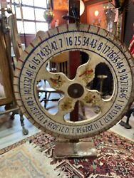 Antique Game Wheel 40 Inches High, 29 Inches Diameter Wheel