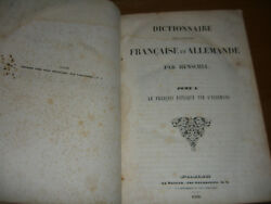 French-german Dictionary Francaise Et Allemande Old Huge Dictionary 1838