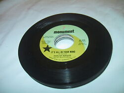 Harlan Howard It's All In Your Mind 45 Vg+ Us 1964 Monument 833