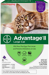 Advantage II Flea Control for Large Cats Over 9 lbs 6 Month NEW FreeShipping $38.99