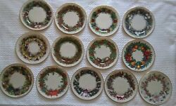 Complete Set 13 Lenox Limited Edition Colonial Christmas Holiday Plates Nearmint