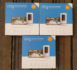 Ring 3-pack Stick Up Cam Battery Hd Cam 3rd Gen W/ 2-way Talk New And Sealed