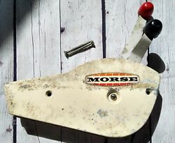 Used Vintage Morse Dual Handle Control Throttle Shifter Boat Marine