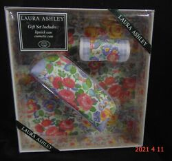 Laura Ashley Floral Lipstick amp; Cosmetic Cases Pink Floral New In Box Undated $19.99