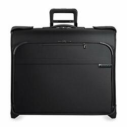 Briggs And Riley Baseline-softside Carry-on Deluxe 2-wheel Garment Bag Black On...