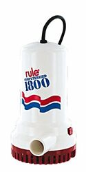 Rule A53s-24 1800 Gph Submersible Sump / Utility Pump 24 Foot Cord Automatic ...