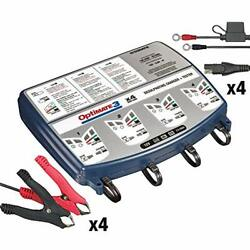 Optimate 3 Quad Bank Tm-455 7-step 4x12v 0.8a Sealed Battery Saving Charger And...