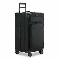 Briggs And Riley Baseline-softside Cx Expandable Large Checked Spinner Trunk Bl...