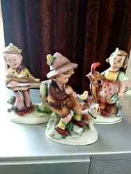 Rare Grafenthal Germany Antique Porcelain Figurine Kids Playing Music Art Marked