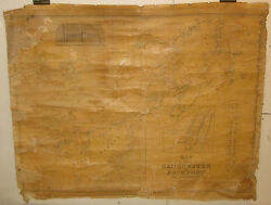 Antique 1851 Gloucester And Rockport Hf Walling Cape Ann Map -pre Civil War Ma Map