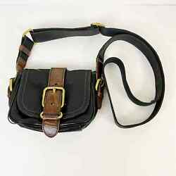 Fossil Mini Leather Crossbody Purse with Gold Detail Black and Brown $30.00