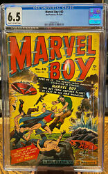 Marvel Boy 40 1 - Bell Features - Cgc 6.5 Only One Cgc Graded Rare