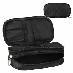Makeup Bag for Women With MirrorPouch Travel Kit Organizer Cosmetic Bag Black. $10.48
