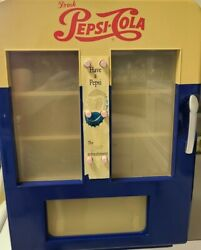 Vintage Pepsi Cola Can Dispenser Mini Frig, Vending Machine Style, Real Working