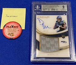 Dk Metcalf Rookie Card Immaculate Rookie Patch Auto /25 2019 Bgs 9 Pop 2