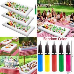 Inflatable Serving Bar Salad Ice Tray Food Drink Containers - Bbq Picnic Pool Pa
