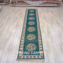 Yilong 2.5and039x12and039 Handknotted Silk Carpet Hallway Dragon Long Rug Runner Tj297a