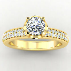 Real 0.76 Carat Diamond Engagement Ring Set Solid 14k Yellow Gold Size 5 6 7 8 9