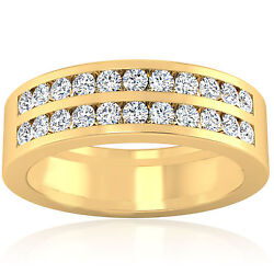 0.88 Carat Natural Diamond Mens Rings Solid 14k Yellow Gold Band All Size