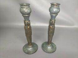 Pair Of Vintage 1985 Limited Edition Conker Solid Metal Candlesticks 247/250 Dd