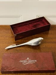 Georg Jensen Allan Scharff Sterling Silver And Crystal Letter Opener With Box