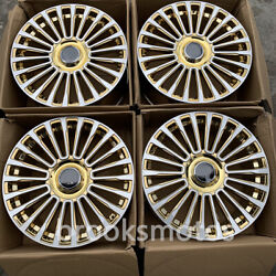 22 Chrome Gold M Style Wheels Rims Fits For Audi A7 22x10 Set Of 4