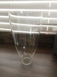 """8 1/2"""" Tall Clear Glass Chimney Hurricane Oil Lamp Globes Shade Candle Lighting"""